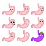 Stomach sad emoji face avatar. Belly sorrowful emotions. Interna Stock Photography
