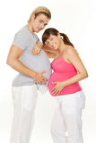 Stomach to stomach Stock Photography