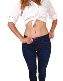 Stomach of young woman. Stock Photography