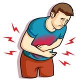 stomachache Illustration de Vecteur