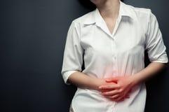 stomachache Fotografia Stock Libera da Diritti