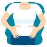 Stomaco della femmina di costipazione illustrazione vettoriale