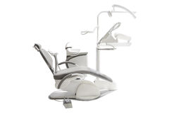 Stomatological chair. Isolated under the white background stock image