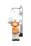 Stomatological chair. Isolated under the white background stock images