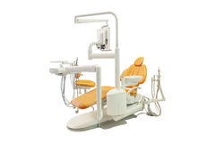 Stomatological chair. Isolated under the white background stock photos