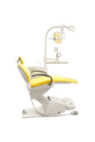 Stomatological chair. Isolated under the white background royalty free stock images