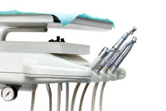 Stomatological instrument in the dentists clinic. Royalty Free Stock Photos