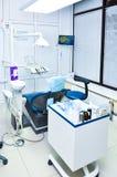 Stomatologiczna operacja w klinice wnętrze fotografia stock
