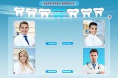 Stomatologiczna strona internetowa Zdjęcia Stock