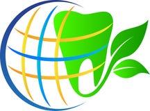Stomatologiczna zielona kula ziemska Zdjęcie Royalty Free