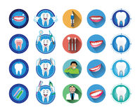 Stomatologiczne ikony ustawiać Zdjęcie Royalty Free