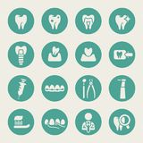 Stomatologiczne tematu mieszkania ikony Zdjęcie Royalty Free