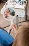 stomatologicznego floss instrukcje Obrazy Royalty Free