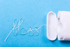 Stomatologicznego floss słowo Zdjęcia Royalty Free