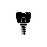 Stomatologicznego wszczepu bryły ikona Fotografia Stock