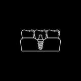 Stomatologicznego wszczepu linii ikona Fotografia Stock