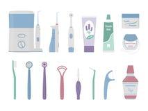 Stomatologiczni cleaning narzędzia Fotografia Royalty Free