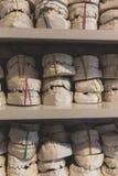 Stomatologiczni gipsowi modele szczęki w dentysty biurze zdjęcia stock