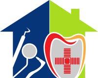 stomatologiczny domowy logo Zdjęcia Stock