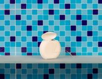 Stomatologiczny floss w łazience Obraz Stock