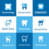 Stomatologiczny klinika logo, ikony i projektów elementy, Fotografia Stock