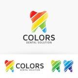 Stomatologiczny koloru loga projekt Obraz Royalty Free