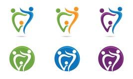 Stomatologiczny Rodzinny logo Zdjęcie Stock