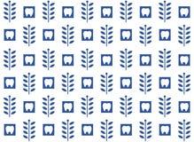 Stomatologiczny wzór na bielu, błękitny Zdjęcie Royalty Free