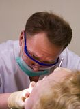 Stomatologist at work. In dental room stock images