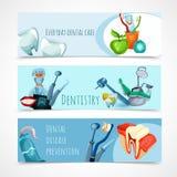 Stomatology Banner Set Stock Image