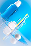 Stomatology and dental health care. Dental health care for tooth cleaning Stock Photography