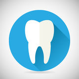 Stomatology and Dental Treatment Symbol Tooth Icon Royalty Free Stock Photography