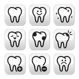 Tooth , teeth  buttons set Stock Images