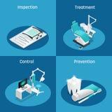 Stomatology Dentistry Isometric Icon Set Stock Image