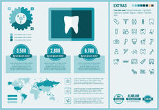Stomatology flat design Infographic Template Stock Photography