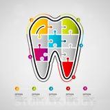 Stomatology infographics Royalty Free Stock Image