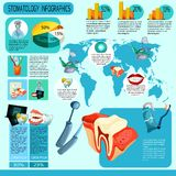 Stomatology Infographics Set Stock Image