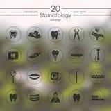Set of stomatology icons Stock Images