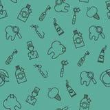 Stomatology set pattern Stock Photo