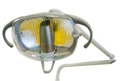 Stomatology surgical lamp. Surgery lamp in of the dental cabinet Stock Photography