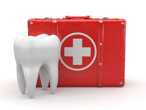 Stomatology. Tooth and Medical Kit. Stock Images