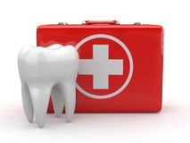 Stomatology. Tooth and Medical Kit. Stock Photo