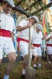 Традиционная виноградина stomp в Шерри Стоковые Фотографии RF