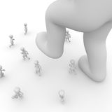 Stomp on people. A great one to suppress the small people Stock Photos