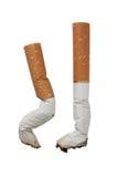 Stomp twee van sigaretten Stock Foto