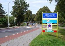 Stompwijk, the Netherlands. September 2018. Stompwijk village in the Netherlands stock photos