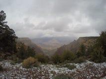 Stomy Day com neve em Grand Canyon Imagem de Stock