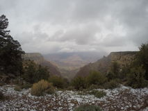 Stomy Day with Snow at the Grand Canyon Stock Image