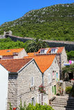 Ston镇和它的防御墙壁, Peljesac半岛,克罗地亚 库存图片