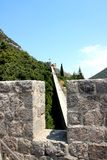 Ston防御墙壁  克罗地亚 免版税库存照片